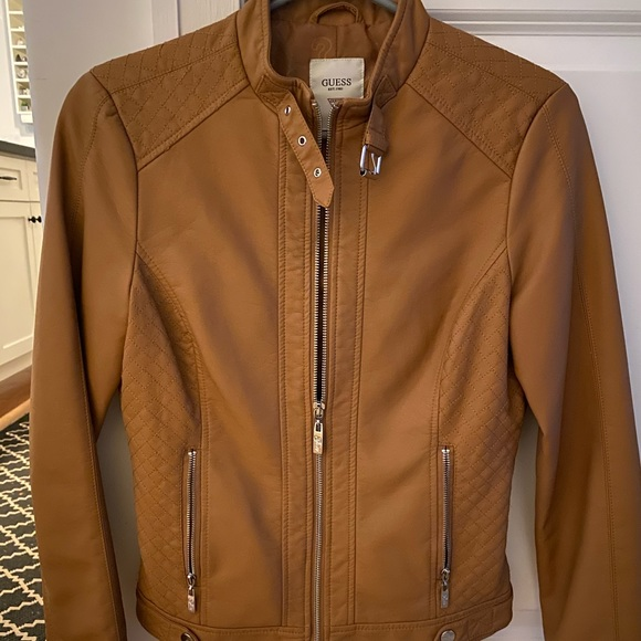 Faux leather Guess jacket ! Never worn !